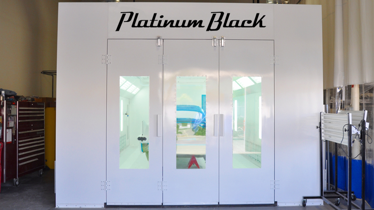 In-House Paint Booth at Platinum Black
